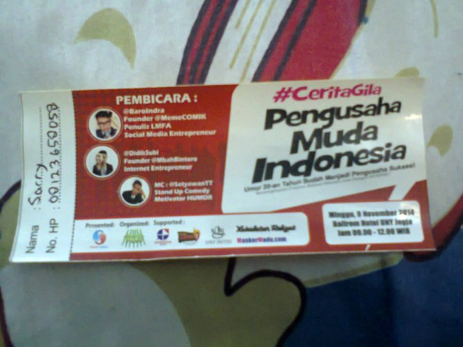 Tiket Seminar